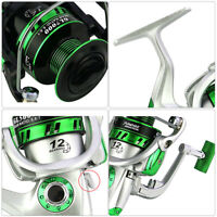 Hot Fishing Reels Spinning 12BB GL 5.5:1 Ball Bearings Fishing Reel Spool Tackle