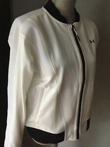 $130 Under Armour Women's Lightweight Jacket  White/Black 1303345  NWT  Size M