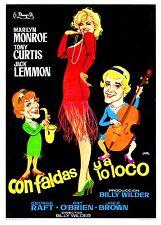 CON FALDAS Y A LO LOCO  (PRESS BOOK BROCHURE ORIGINAL) MARILYN MONROE