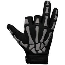 Paintball Exalt Death Grip Paintball Skeleton Gloves Black Gray New - Small