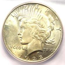 "1928-S Peace Silver Dollar $1 - Certified ICG MS63+ PQ ""Plus"" Grade - $575 Value"