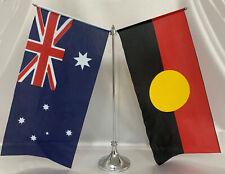 Silver Metal Handwaver Stand Australian Aboriginal Flags