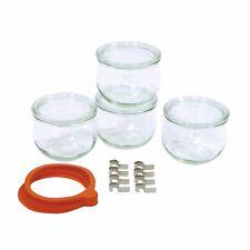Einkochgläser-Set 4 x 0,5 l, 5 Ringe und 8 Klammern