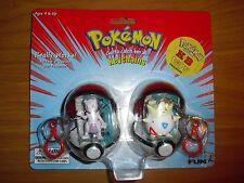 mewtwo and mew basic fun keychain 2 pack pokemon toy figure