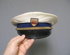 Ancienne casquette de capitaine de bateau de plaisance de la ville de Cognac.