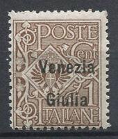 Venezia Giulia 1918 Sass. 19 Nuovo ** 100% 1 c, Sovrastampato