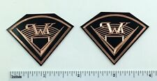 Engraved Black Coated Solid COPPER Klipsch Speaker Badge logo Cornwall La Scala