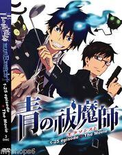 DVD BLUE EXORCIST Episode 1-25end + MOVIE Anime Boxset ENGLISH Dubbed