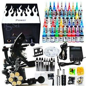Tätowierung Komplett Tattoo Set 2 Tätowiermaschine maschine 40 Farben 50 Nadeln