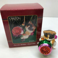 Carlton Cards Purr-fect Holiday Cat Ornament Dated 2000