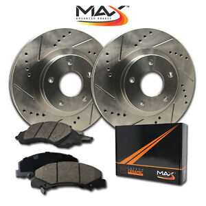 Fits: 2010 10 2011 11 2012 12 Volvo S80 w//300mm Front Rotors and Rear Vented Rotors E-Coated Slotted Drilled Rotors + Ceramic Pads KT108083 Max Brakes Front /& Rear Elite Brake Kit