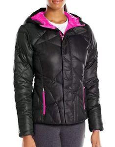 Spyder Geared Ski Jacket Women's Medium Hooded Synthetic Down Black NEW $199