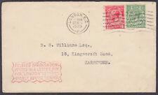 """1933 retrasado por divulgados en una caja cartas para """"Londres"""" Cartas.. cachet"""