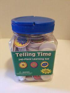 Telling Time 240 Piece Chip Game Learning Set ~ Eureka #EU86744