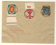 FDC DR 107/09 entwertet LUFTPOSTAUFGABESTEMPEL Weimar 1.7.1919 (16)