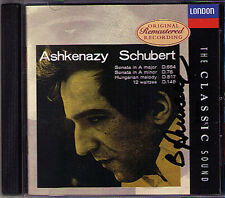 Ashkenazy SIGNED Schubert Sonata d.664 784 12 Waltzes Decca CLASSIC CD audio