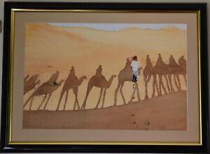 Original Watercolour Painting - Shadows in the Desert