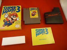 Super Mario Bros. 3 Nintendo Entertainment System NES 1990 COMPLETE w/ Box #AB1