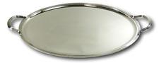 "CHRISTOFLE Silver Plate - Malmaison Design - Large Oval Serving Tray - 24 1/2"""