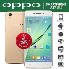 "New Unlocked OPPO A37 Gold 5"" IPS LCD Dual SIM 8MP 4G LTE Android Mobile Phone"