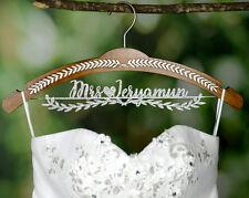 Bridenew Wedding Shower Gift Personalized Wedding Hanger with Bride Name JJ008