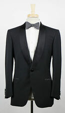 New. BRIONI Colon Black Wool Shawl Collar Tuxedo Suit Size 56/46 S $6895