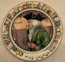 1910'S? Royal Doulton China The Doctor Figure Plate 6281