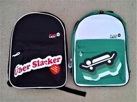 """Plain Lazy 17"""" Backpack Black Uber Slacker or Green - New With Tags"""