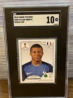 2018 Panini World Cup Kylian Mbappe World Cup Rookie Sticker France SGC 10 PSG