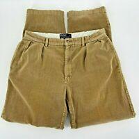 Polo By Ralph Lauren Andrew Pant Tan Corduroy Pants Mens 36/34