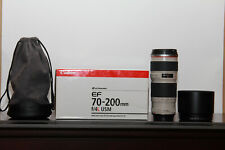 Canon EF 70-200mm f/4L USM with Lens Case LP1224 and Lens Hood ET-74