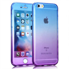 For Apple iPhone 360 Front and Back Full Protective TPU Gel Rainbow Case Cover