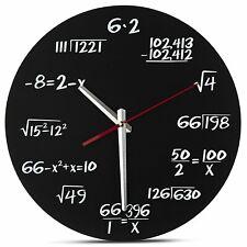 Maths Wall Clock - Silent No Tick - novelty Math Equations (mafs clok cloc mathe