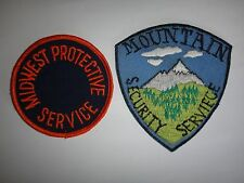 Set Of 2 US MIDWEST PROTECTIVE SERVICE + MOUNTAIN SECURITY SERVICE Patches: