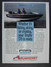 1991 Alumacraft TROPHY 170 Fishing Boat vintage print Ad