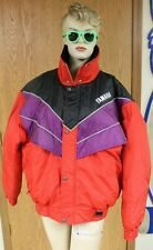 Vintage Mens Yamaha Jacket Racing Snowmobile Zipper Snap Color Block Size Large
