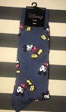 Disney Mickey Mouse Crews Men Unisex Socks Shoe Sz 6.5-12 Soft Stretch NWT