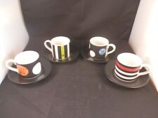 STUNNING WARNER BROS 2000 FRIENDS X4 COFFEE CUPS MUGS & SAUCERS CERAMIC