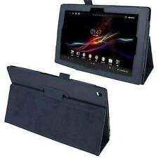 Texture Leather Case with Holder for Sony Xperia Tablet Z / 10.1 (Dark Blue)