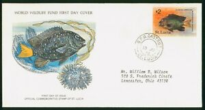 Mayfairstamps St Lucia FDC 1978 Yellowtail Damselfish First Day Cover wwp_63739