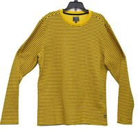 Designer GUESS Macy's Men's Yellow Striped Crew Neck Pullover Sweater XXL
