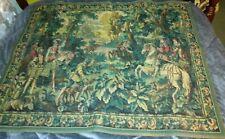 Flemish Wool Wall Tapestry Hawking with Emperor Maximilian Belgium Hunting Scene