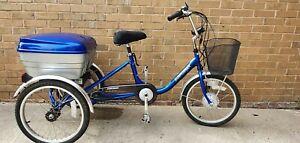 "Sunrunner Electric Tricycle - 250 watt- Blue- 16"" Frame -"