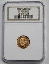 1900 Denmark 10 Kroner Gold Coin NGC MS63
