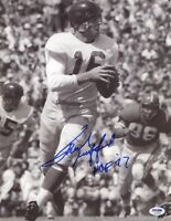 FRANK GIFFORD SIGNED AUTOGRAPHED 11x14 PHOTO + HOF 77 NEW YORK GIANTS PSA/DNA