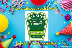 PERSONALISED HEINZ SALAD CREAM LABEL - PARTY / BIRTHDAY / WEDDING OCCASION