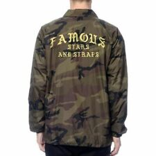 Famous Stars And Straps Size XL SCROLL CAMO COACHES JACKET BNWT Ships World Wide