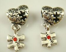 hot European Silver CZ Charm Beads Fit sterling 925 Necklace Bracelet Chain gl31