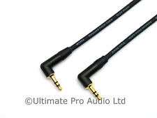 0.5m Right Angle Jack to Jack 3.5mm Mini Plug Lead Neutrik NTP3RC-B Gold Contact