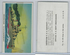 R169 Cameron Sales, Warships, 1942, #19 Destroyer, U.S.S. Bancroft